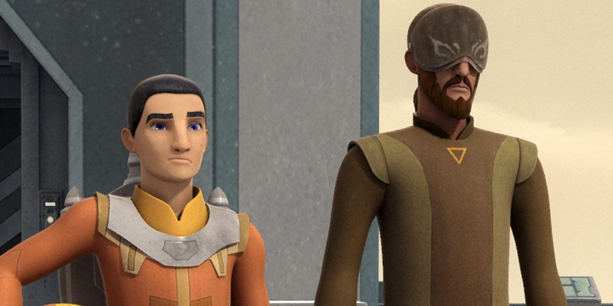 Ezra Bridger and Kanan Jarrus in Star Wars Rebels