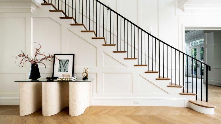 Chris Albrecht Starz CEO home, staircase in California