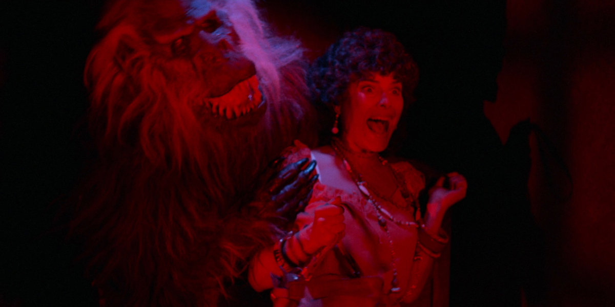Adrienne Barbeau vs the crate monster in Creepshow