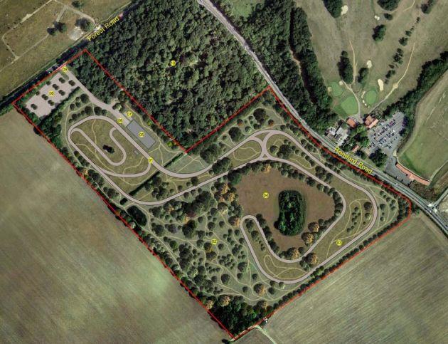 Hog Hill cycling circuit plan