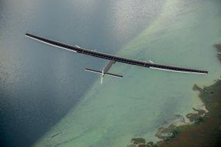 solar impulse 2 flies over water