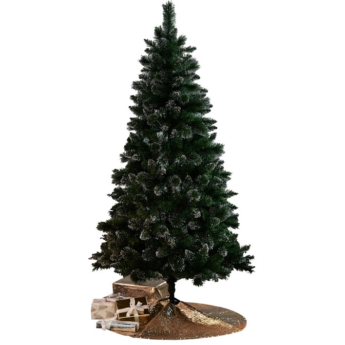 best artificial Christmas trees: Next 6ft glitter tip christmas tree