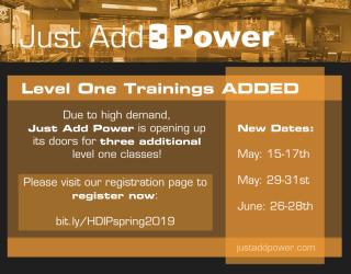 Just Add Power Spring 2019 Training