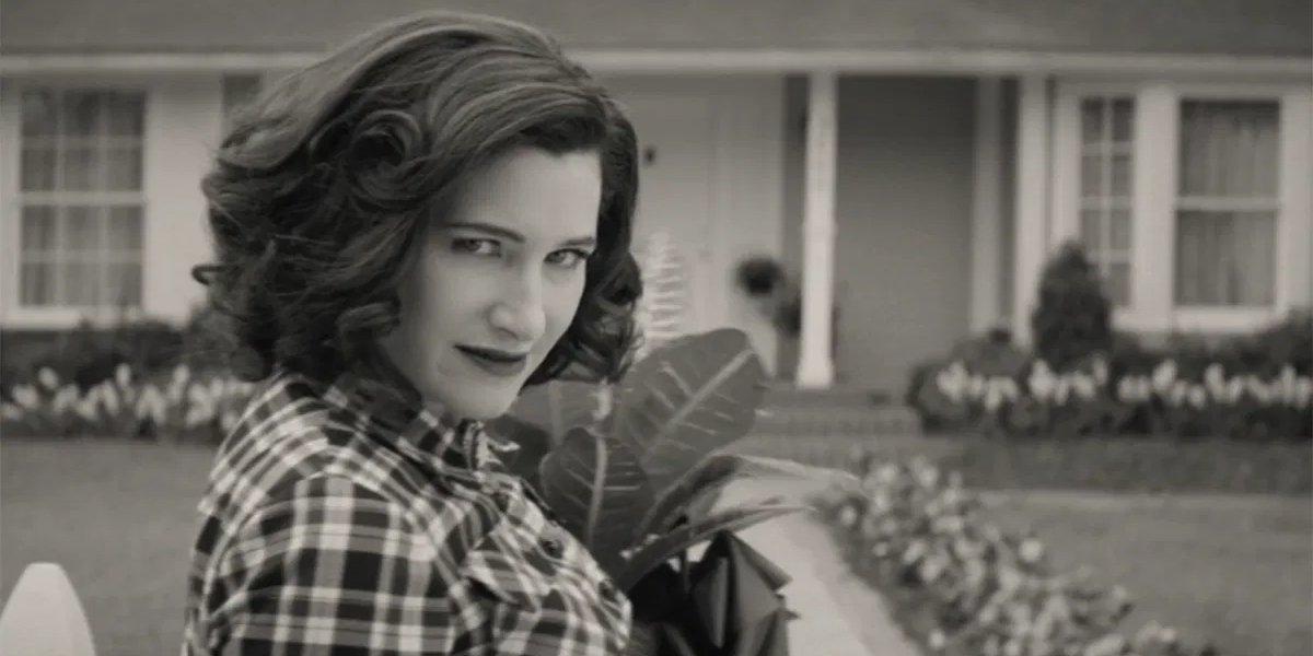 Kathryn Hahn as Agatha Harkness on WandaVision