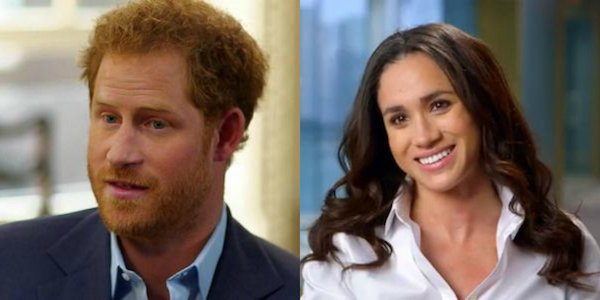 Prince Harry and Meghan Markle happy side by side