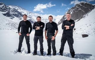 SAS: WHO DARES WINS: SUTC CELEBRITY VERSION [SERIES 1] shows L-R Jason Fox, Ant Middleton, Olly Ollerton and Mark Billingham