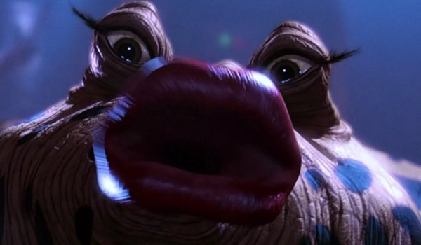 Star Wars Return of the Jedi Sy Snootles extreme CGI close-up