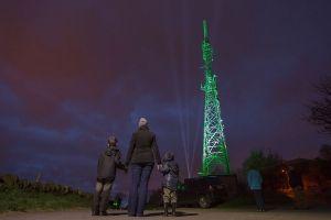 James Bawn Illuminates Halifax Transmitting Tower