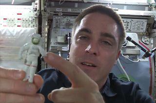 Chris Cassidy's 'Lucky Charm' Toy Astronaut Figurine