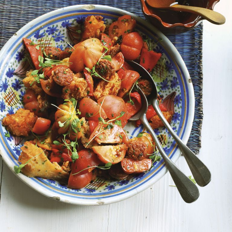 Sourdough Salad with Peppers and Chorizo photo