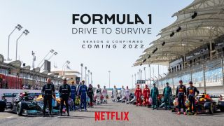 Formula 1 Drive to Survive season 4 image featuring all drivers and race cars