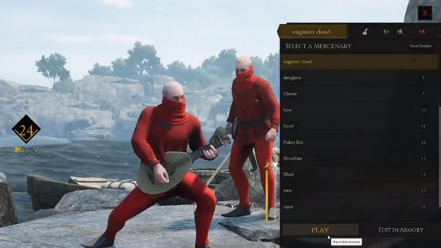 Mordhau players figured out how to sneak into the character