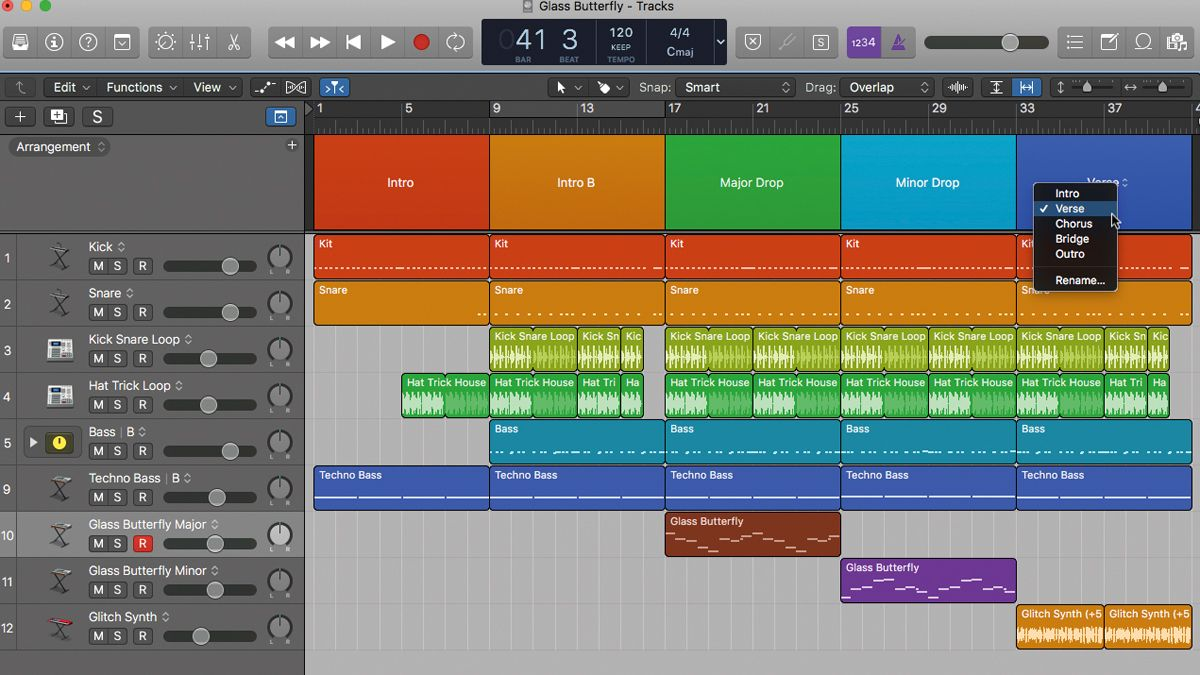 How to use Logic Pro X's Arrangement track to try out ideas