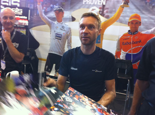 Jens Voigt, SiS stand, Eurobike 2010
