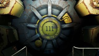 The door of Vault 111 in Fallout 4.