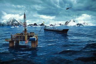Arctic Oil Illustration