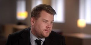James Corden with a suit on in Ocean's 8.