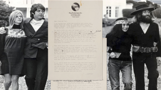 A picture of Lennon's letter to the McCartney's