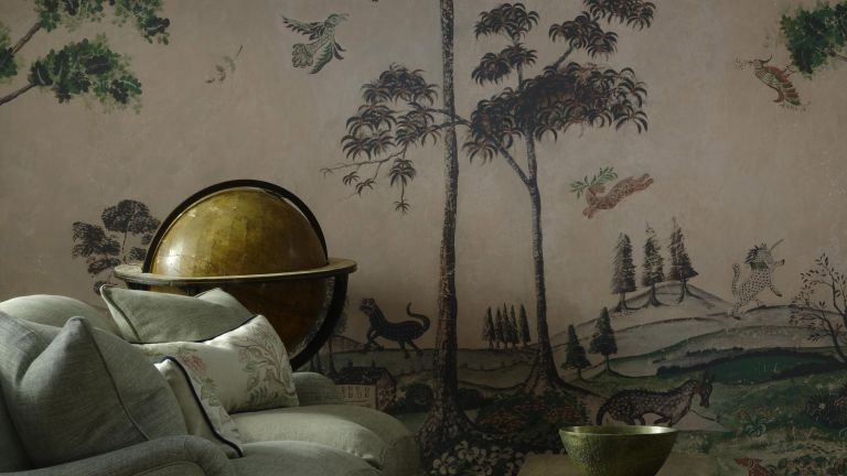 Fairytale feature wall by Kit Kemp