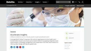 Deloitte ConvergeHEALTH Miner