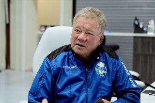 William Shatner, seen here preparing for his spaceflight with Blue Origin, revealed the limits put on the crew's carry-ons.
