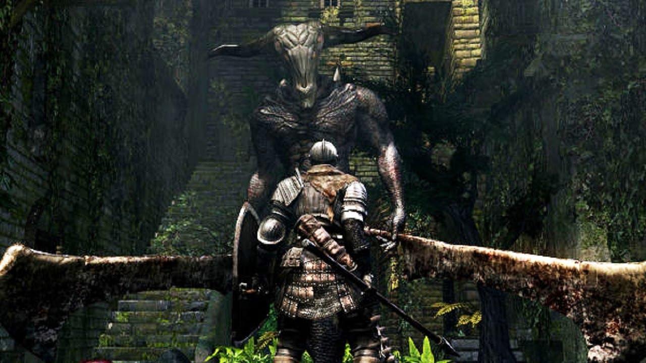 Dark Souls Capra Demon boss fight intro
