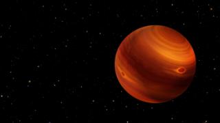 An artist's concept of 2MASS J22081363+2921215, a nearby brown dwarf.