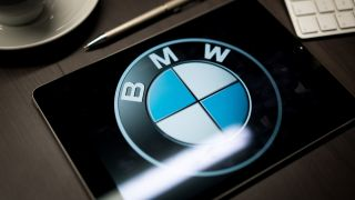BMW logo on a tablet