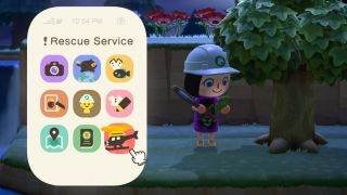 Animal Crossing New Horizons rescue service app