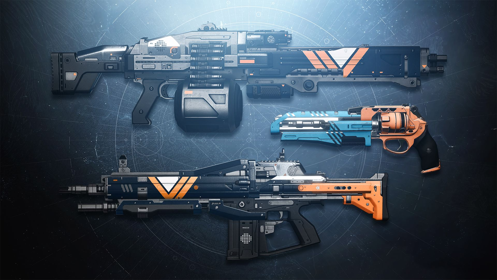 Nightfall Weapons from Destiny 2: Palindrome, The Swarm, Shadow Price.