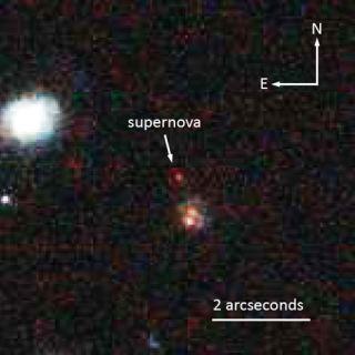Most Distant Type 1a Supernova
