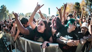 A crowd at aftershock festival