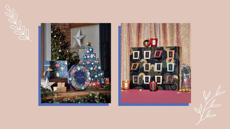 Two of the best candle advent calendars from Yankee Candle and Voluspa shown side by side