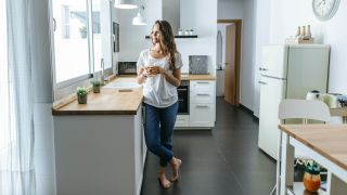 Electric underfloor heating in a kitchen
