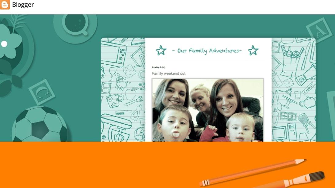 Page d'accueil de Blogger présentant un article de blog