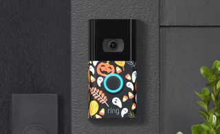Ring video doorbell with Halloween face plate