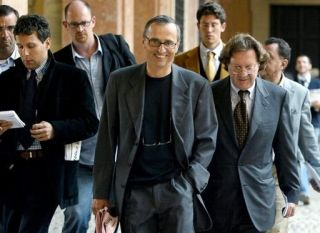 Dr Michele Ferrari leaves a tribunal in Bologna, Italy in 2004.