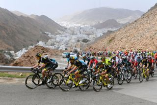The peloton at the 2019 Tour of Oman