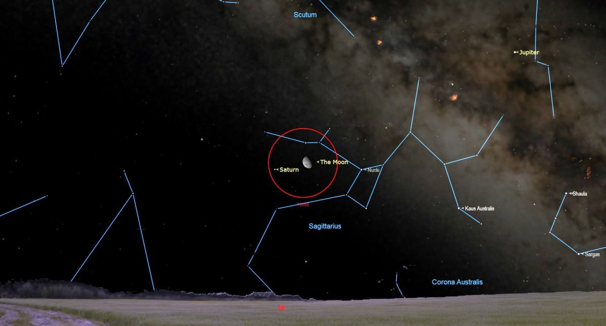 The Moon Shines with Jupiter and Saturn This Week! Here's How to See
