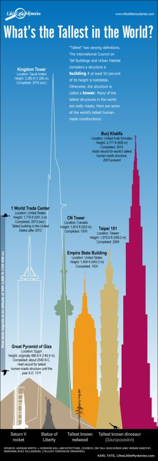 Tallest Things in the World (Infographic)