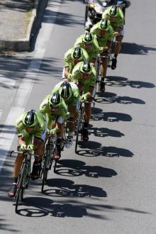 Cannondale lost Ted King early on in their team time trial