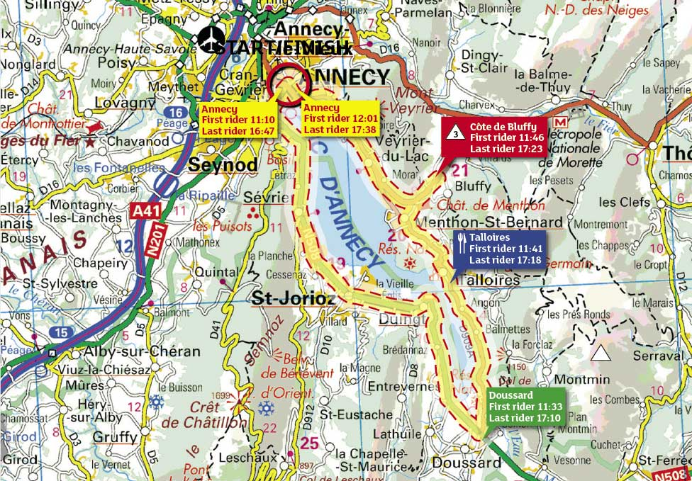 Tour de France 2009, stage 18 map
