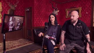 Still from Lacuna Coil interview video