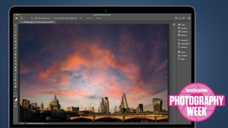 A dramatic sky over London's skyline