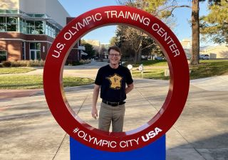 Pat Malach visiting the US Olympic Training Center