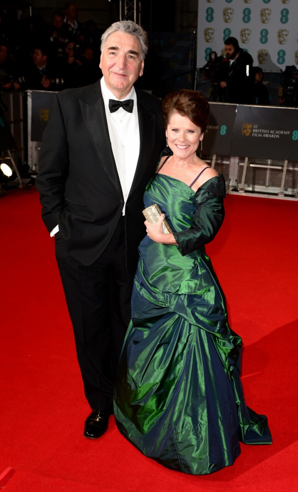 Jim Carter and Imelda Staunton at the EE British Academy Film Awards