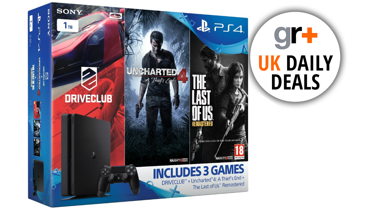 Uk Game Deals Get A 1tb Ps4 Slim With Uncharted 4 The Last Of Us Ps4uncharted Thief End Reg 3 All And Driveclub For 250 Gamesradar