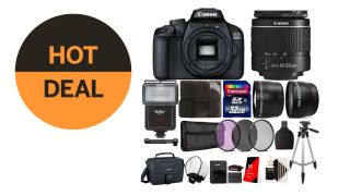 Canon DSLR strobe kit just $300! Camera, lens, flash, tripod… a Black Friday bargain!