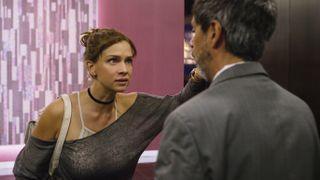 """Carolina Miranda as Elisa Lozcano and Hector Jimenez as Elroy in """"Who Killed Sara?"""" on Netflix."""