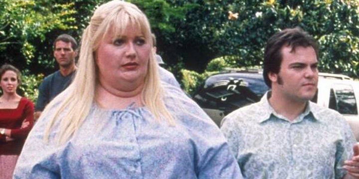 Shallow Hal Gwyneth Paltrow as Rosemary with Jack Black as Hal